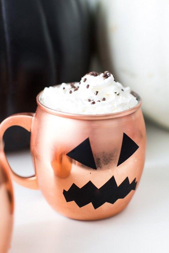 Easy Pumpkin Decal Five Minute Temporary Diy Halloween Glassware Easy Diy Halloween Halloween Diy Pumpkin Decals