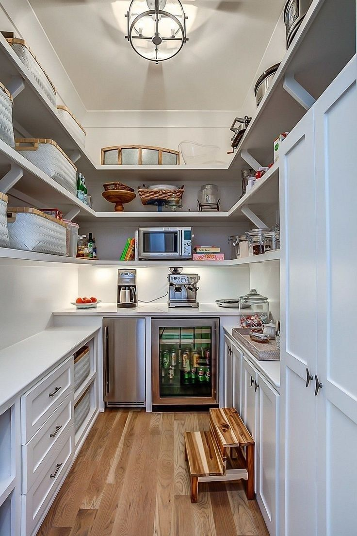 64 well kitchen organized and storage ideas 31 - Kitchen pantry design, Pantry design, Pantry remodel, Clever kitchen storage, Pantry room, Pantry shelving - 64 well kitchen organized and storage ideas 31