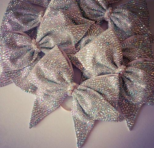 glittery bows!!!