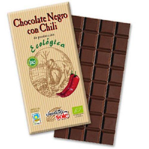 Chocolate negro 51% con chili Ecológico 100gr