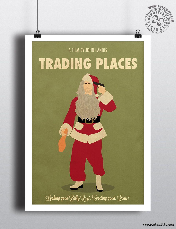 IT/'S A WONDERFUL LIFE Minimalist Christmas Movie Poster Minimal Xmas Print Art