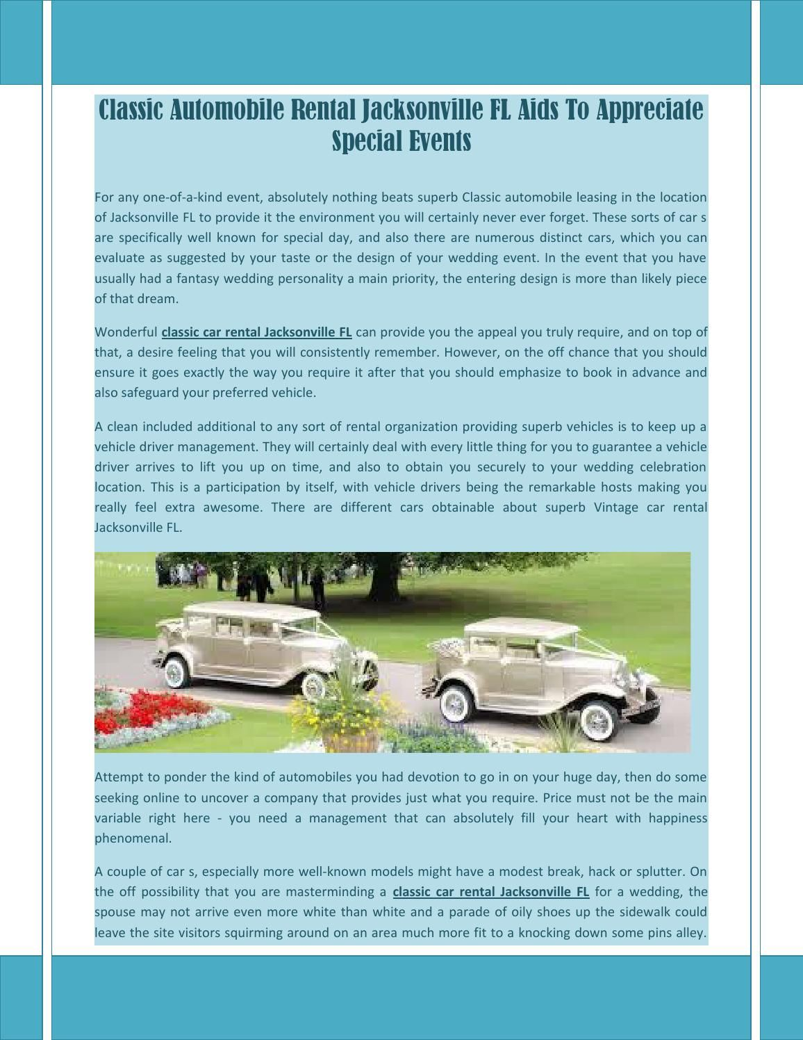 Pin On Classic Car Rental Jacksonville Fl
