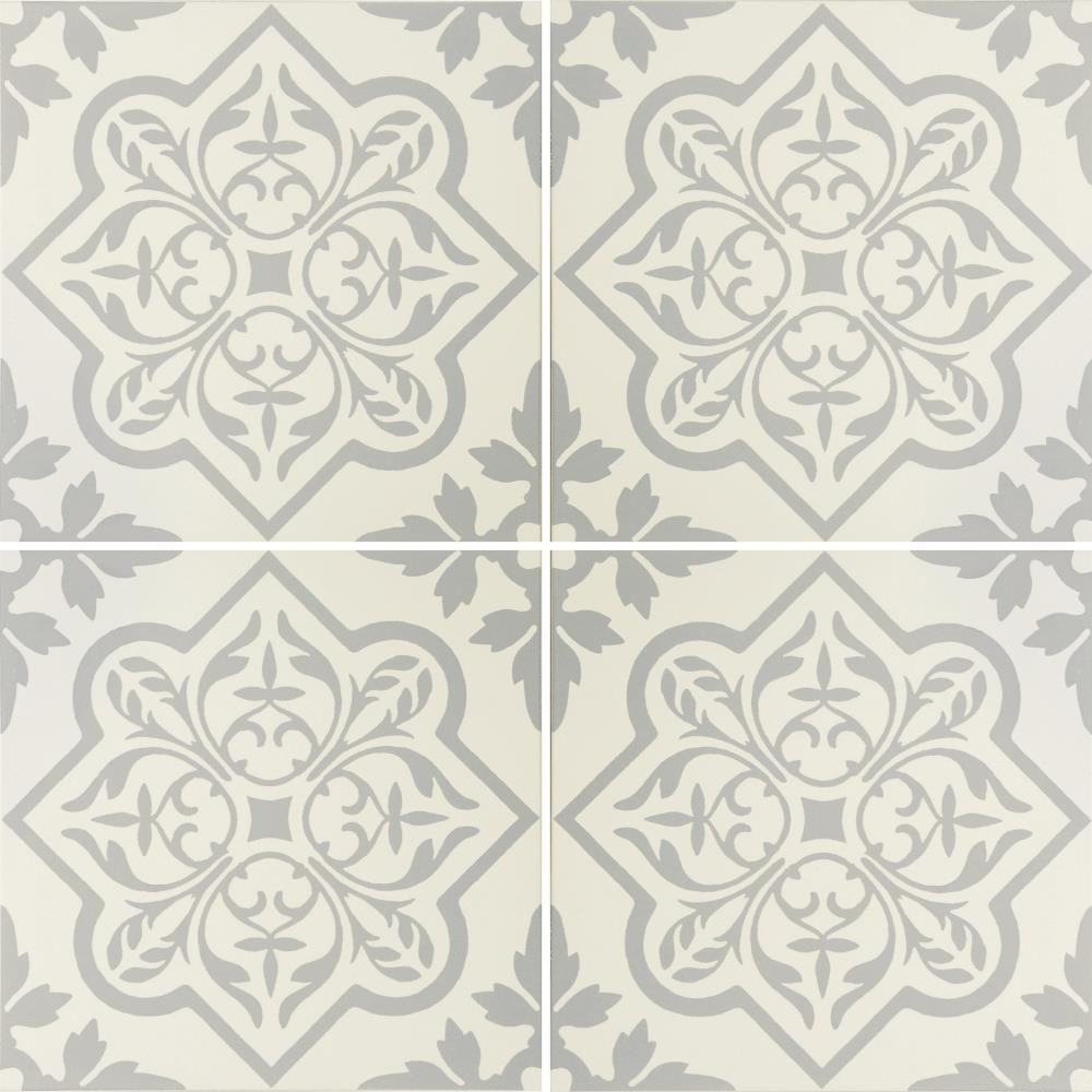 Pentillie Light Grey on Chalk Tile | Porcelain tile and Porcelain