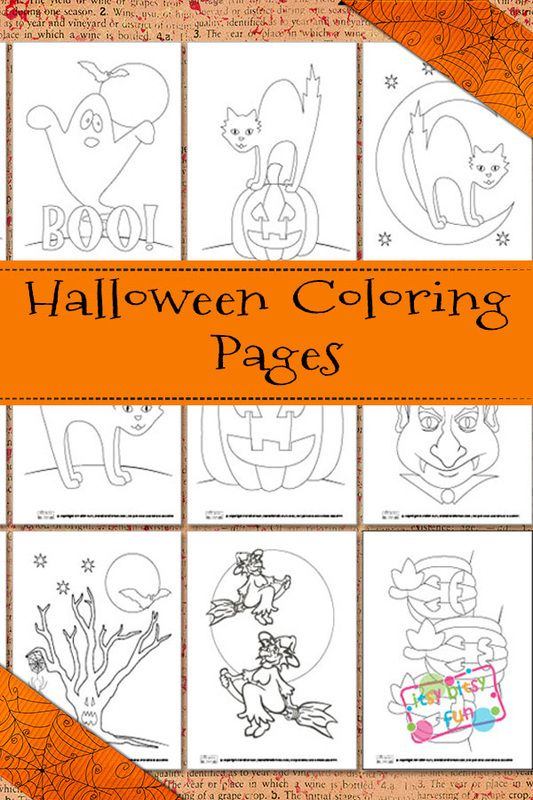Halloween Coloring Pages | Halloween coloring, Free and Holidays