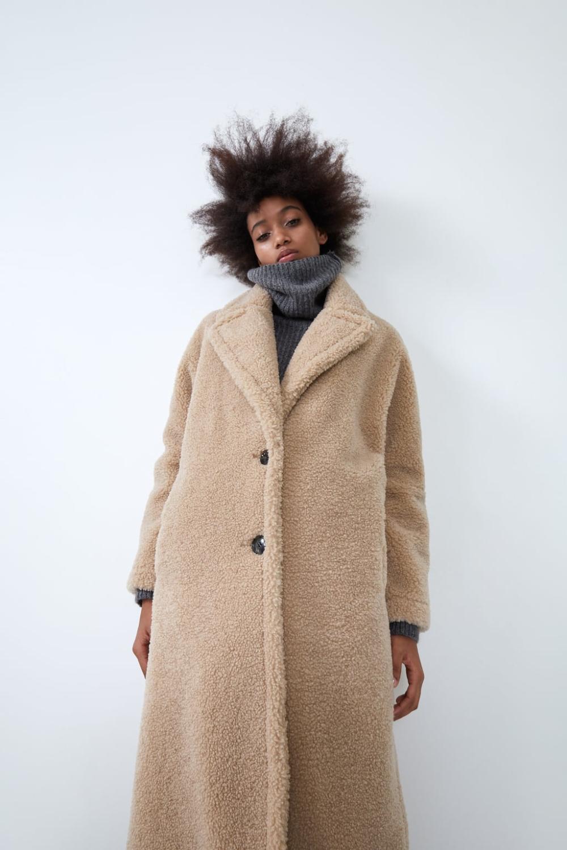 Fleece coat Faux shearling coat, Fleece coat, Coat
