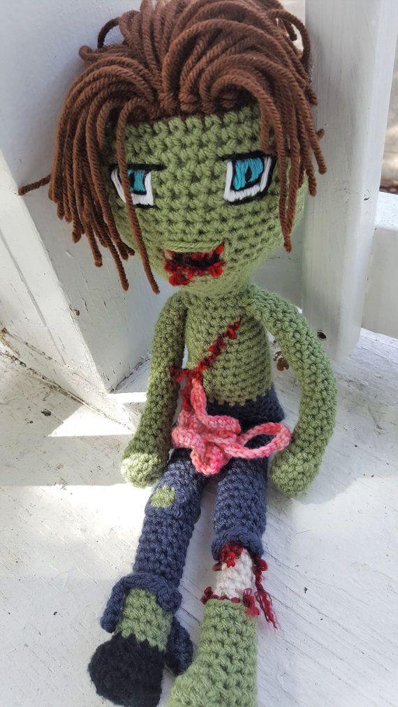 Zombie Heart Throb Johnny Dead Crochet pattern & Custom orders now available at    https://www.etsy.com/listing/467979282/zombie-heart-throb-johnny-deadd-pattern  Also available at Ravelry   www.ravelry.com/stores/freaksinyarn  #zombies #zombiesforlife #crochetzombiesruletheworld #crochet #freaksinyarn #halloween