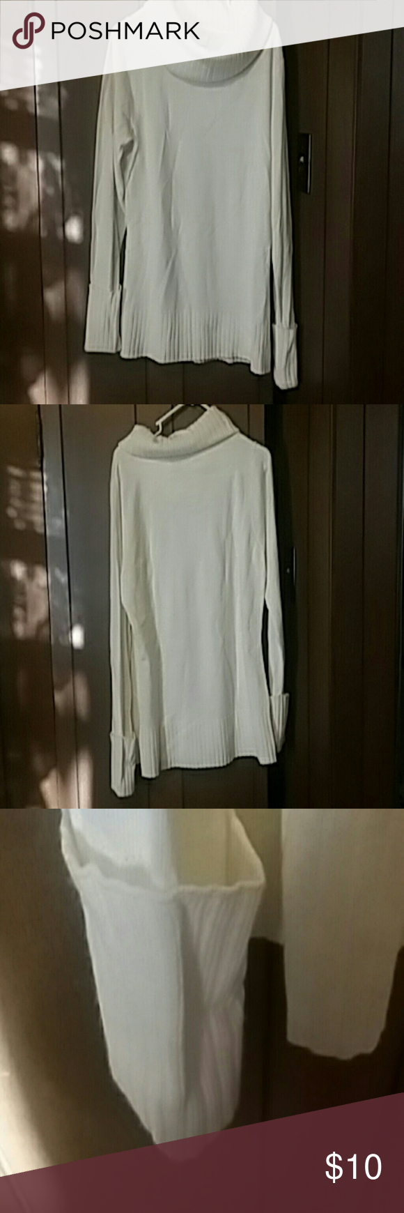 New York & company cream colored sweater. L | Cowl neck, Cowl neck ...