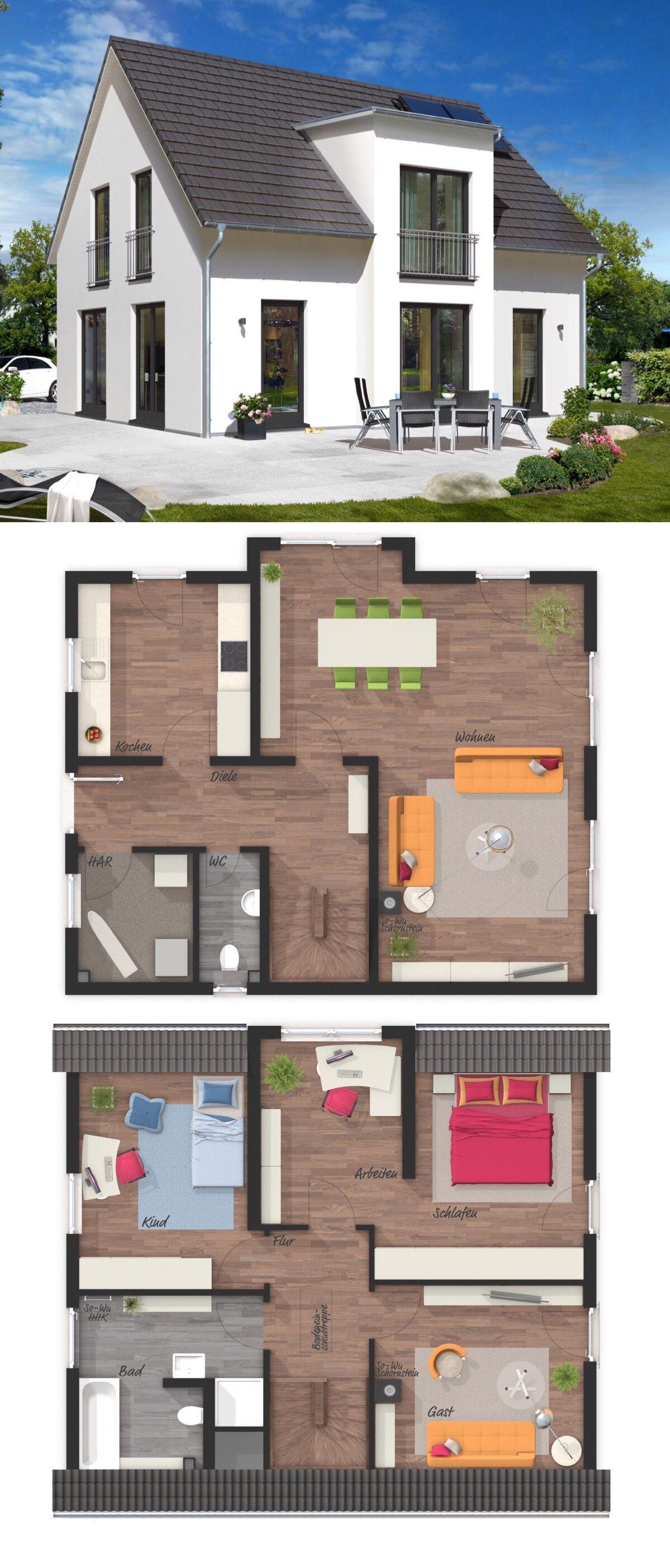 Massivhaus LICHTHAUS 121 STYLE mit Satteldach