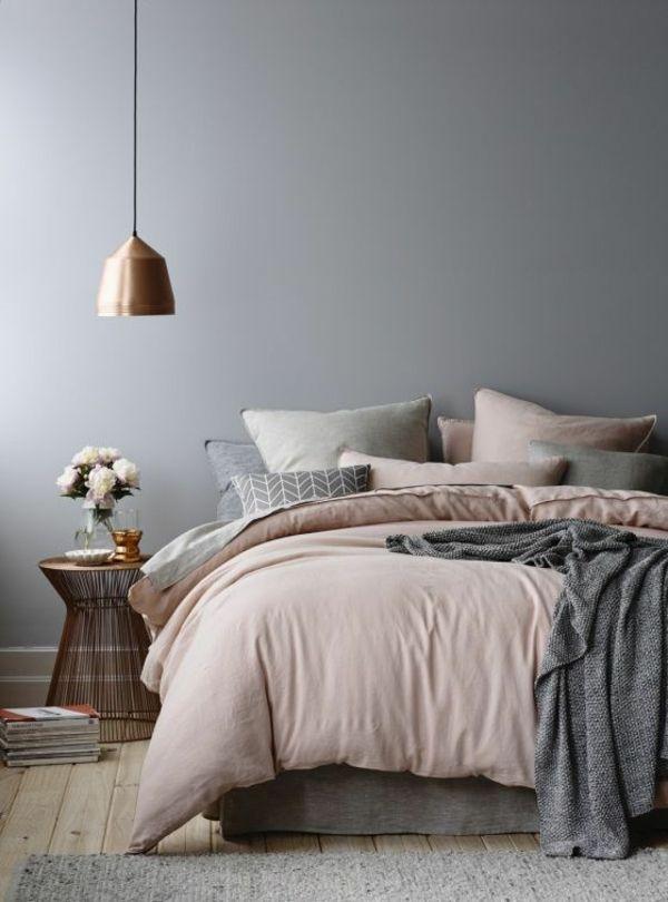 AuBergewohnlich Farbgestaltung Schlafzimmer Wandgestaltung Schlafzimmer Wandfarbe Grau