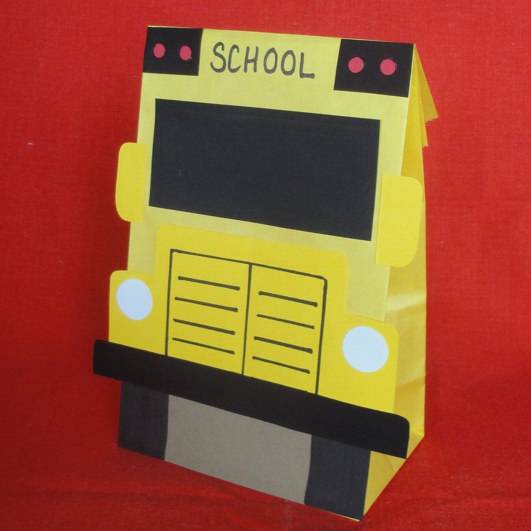 School Bus Birthday Party Treat Sacks School Education Theme Goody Bags by jettabees on Etsy. $15.00, via Etsy.