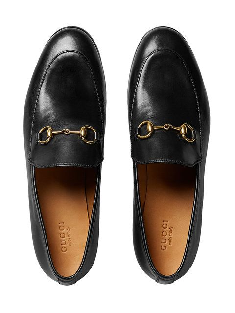 8086dc1d6 Gucci Gucci Jordaan Leather Loafers | Xmas List 2017 | Shoes, Gucci ...