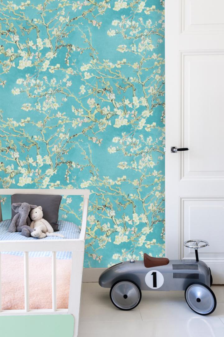 Behang Amandelbloesem Wallpaper Almond Blossom Collection Van Gogh Bn Thuis Behang Babykamer Behang Behang