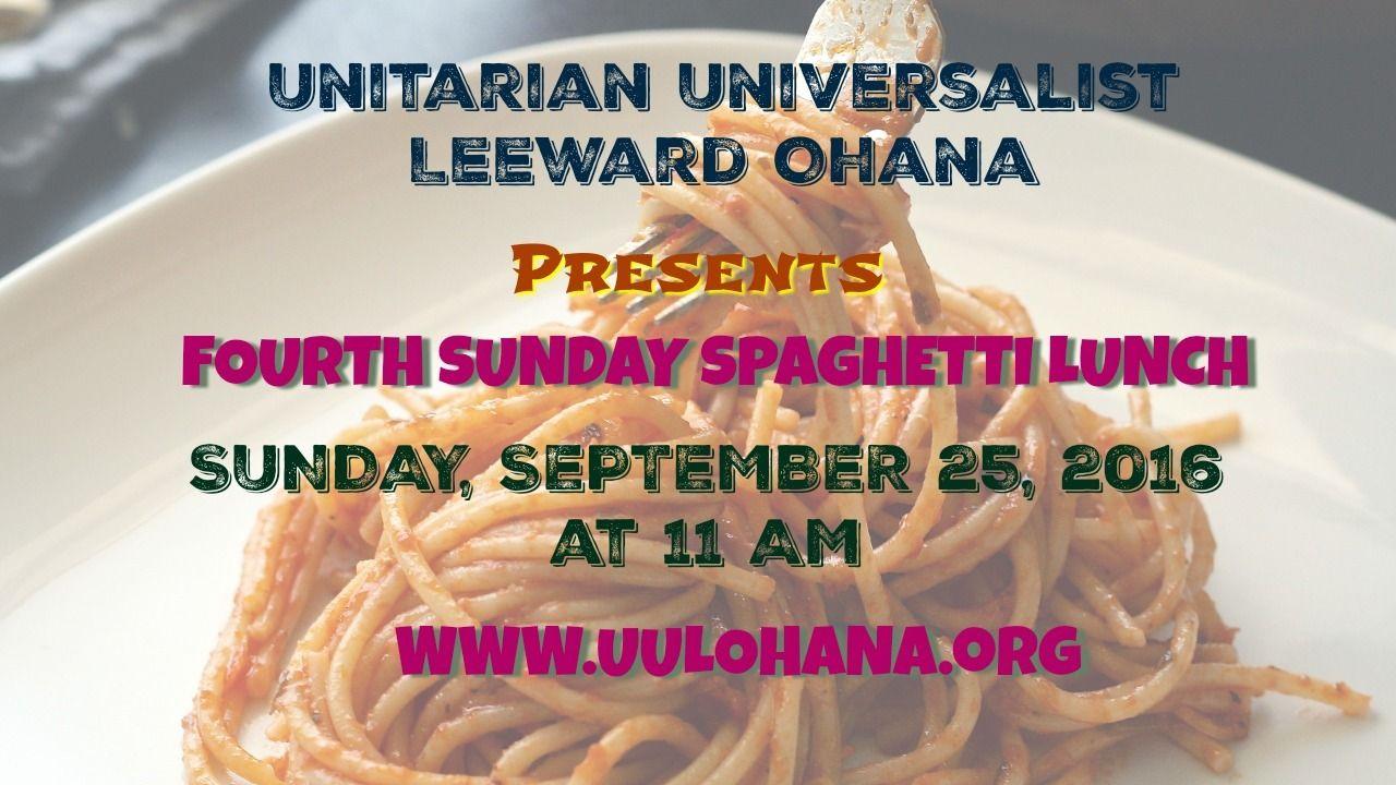 Fourth sunday lunch coming soon to a unitarian church near
