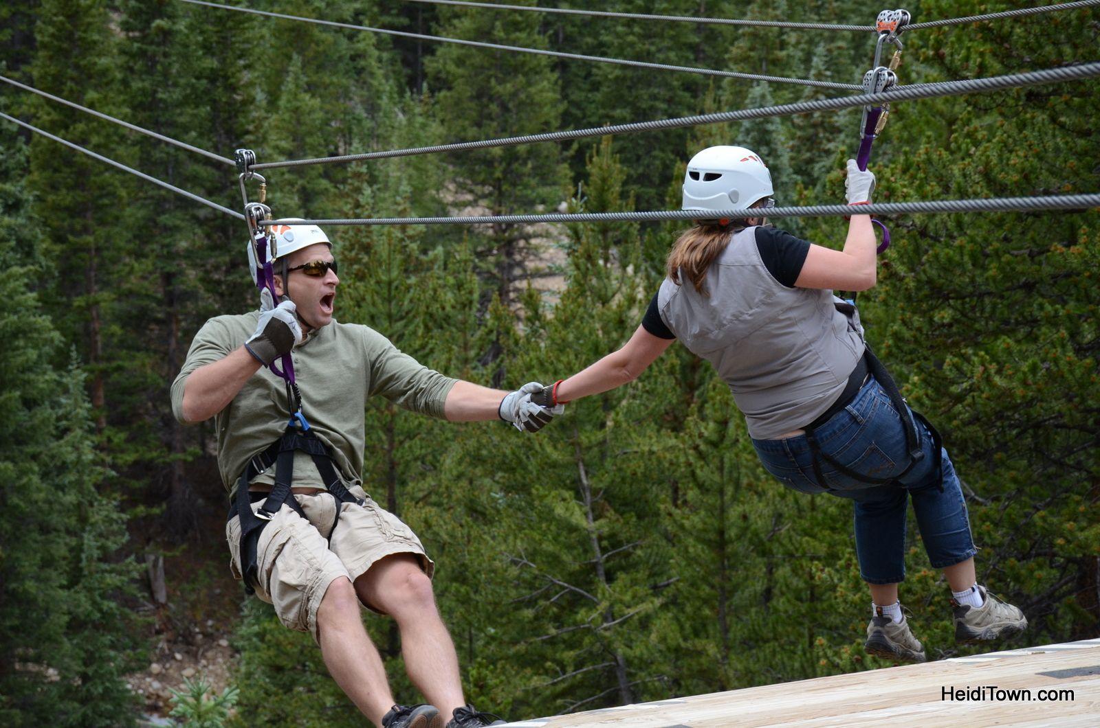 Best Zip Line View In Colorado Top Of The Rockies Heiditown Ziplining Colorado Travel Colorado
