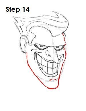 Draw The Joker Step 14 Crafts In 2019 Joker Drawings Drawings