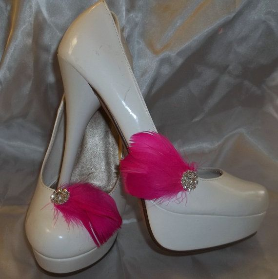 Shoe Clips  set of 2  with sparkling rhinestones by ShoeClipsOnly, $18.00