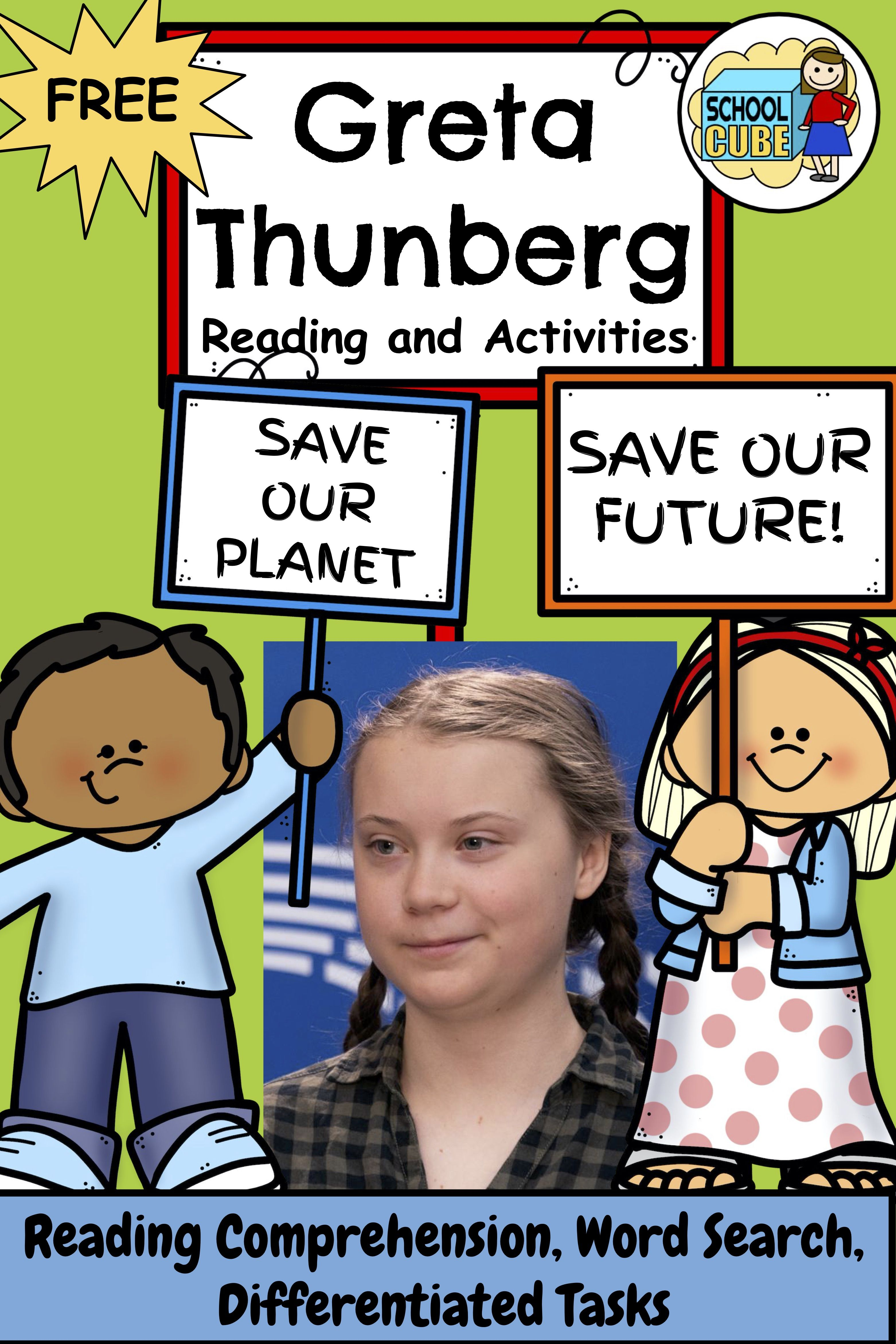 Greta Thunberg Reading And Activities Differentiated
