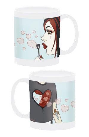 Cotton Candy Machine   Love Blows Mug by Tara McPherson