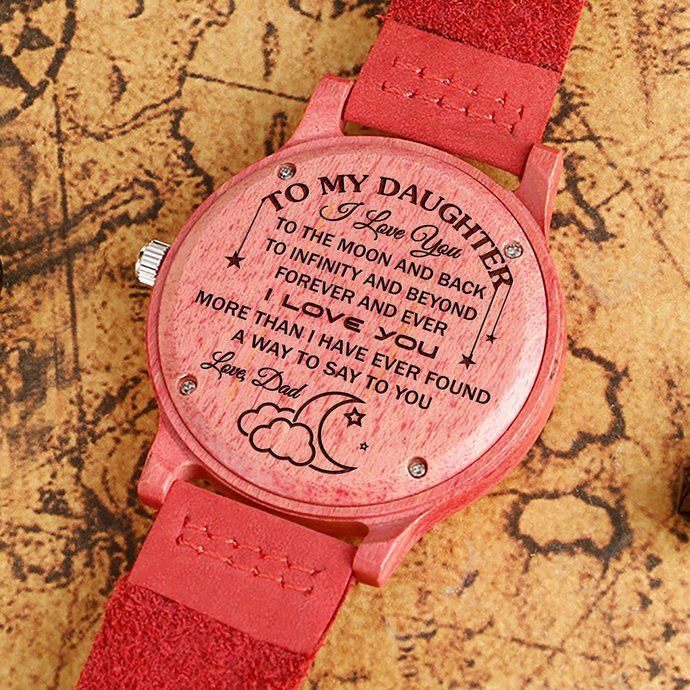 1ac8df498ea Great Gift For Daughter Engraving Wooden Watch To My Daughter by HeavenKP