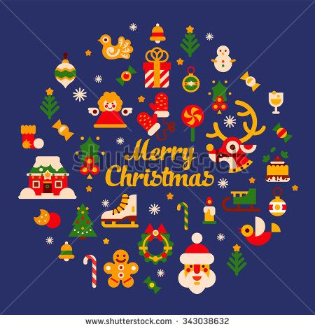 stock-vector-merry-xmas-and-happy-new-year-big-set-of-isolated-items-christmas-tree-deer-bird-gingerbread-343038632.jpg (450×470)