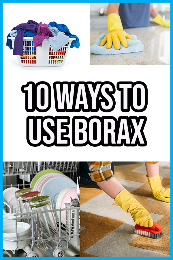 Wow! You have to check out all these ways to use borax powder! There's more borax uses for cleaning besides just homemade laundry detergent. Find out how to make general all purpose cleaner with borax that you can use to clean your kitchen, bathroom, and everywhere in the house. Use borax in DIY stain removers, carpet cleaners, and spotless dishes. Borax isn't just for cleaning the house - you can use it in crafts and science projects too! This list includes homemade slime, diy bouncy ball, etc
