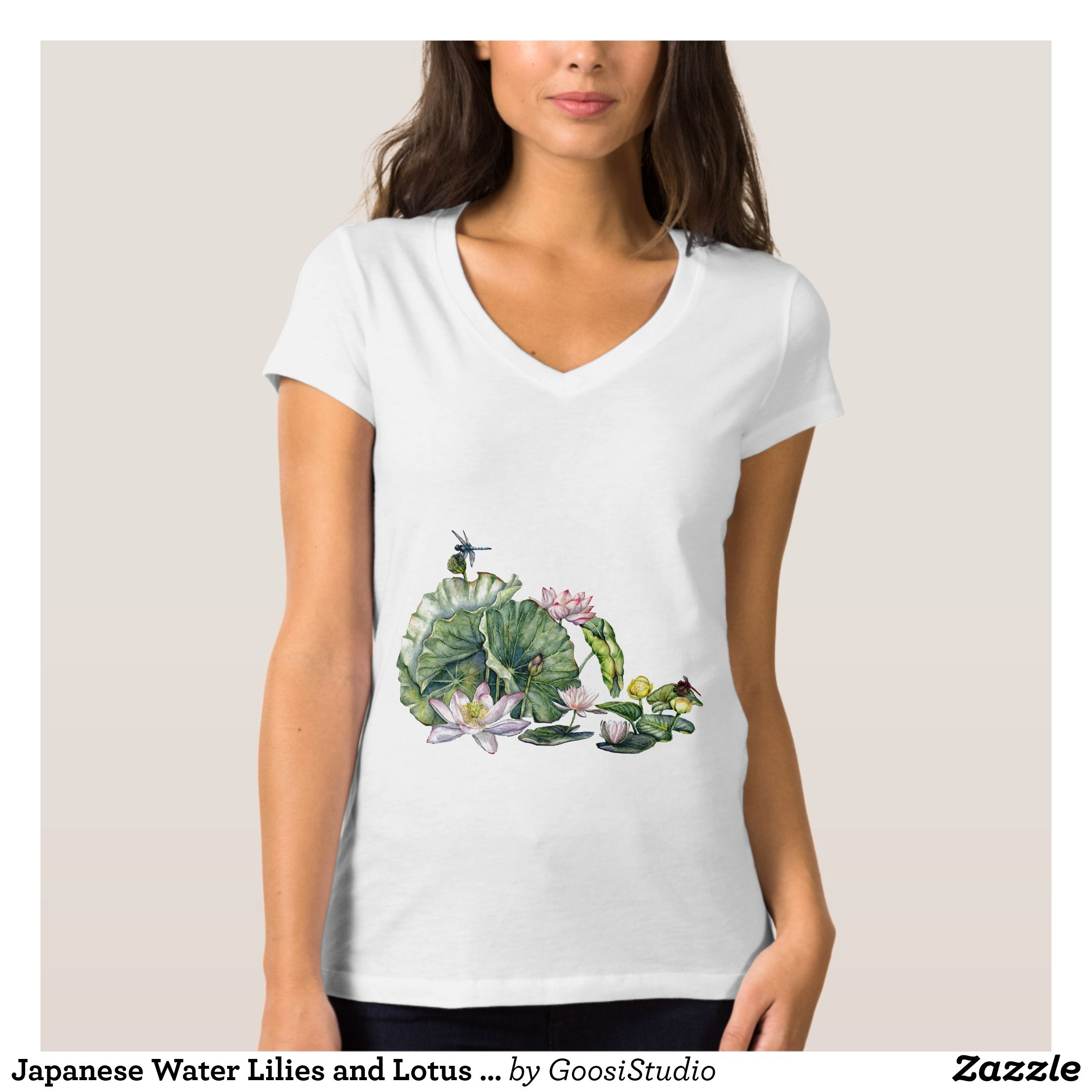 Japanese water lilies and lotus flowers t shirt lotus flowers and japanese water lilies and lotus flowers t shirt izmirmasajfo Images