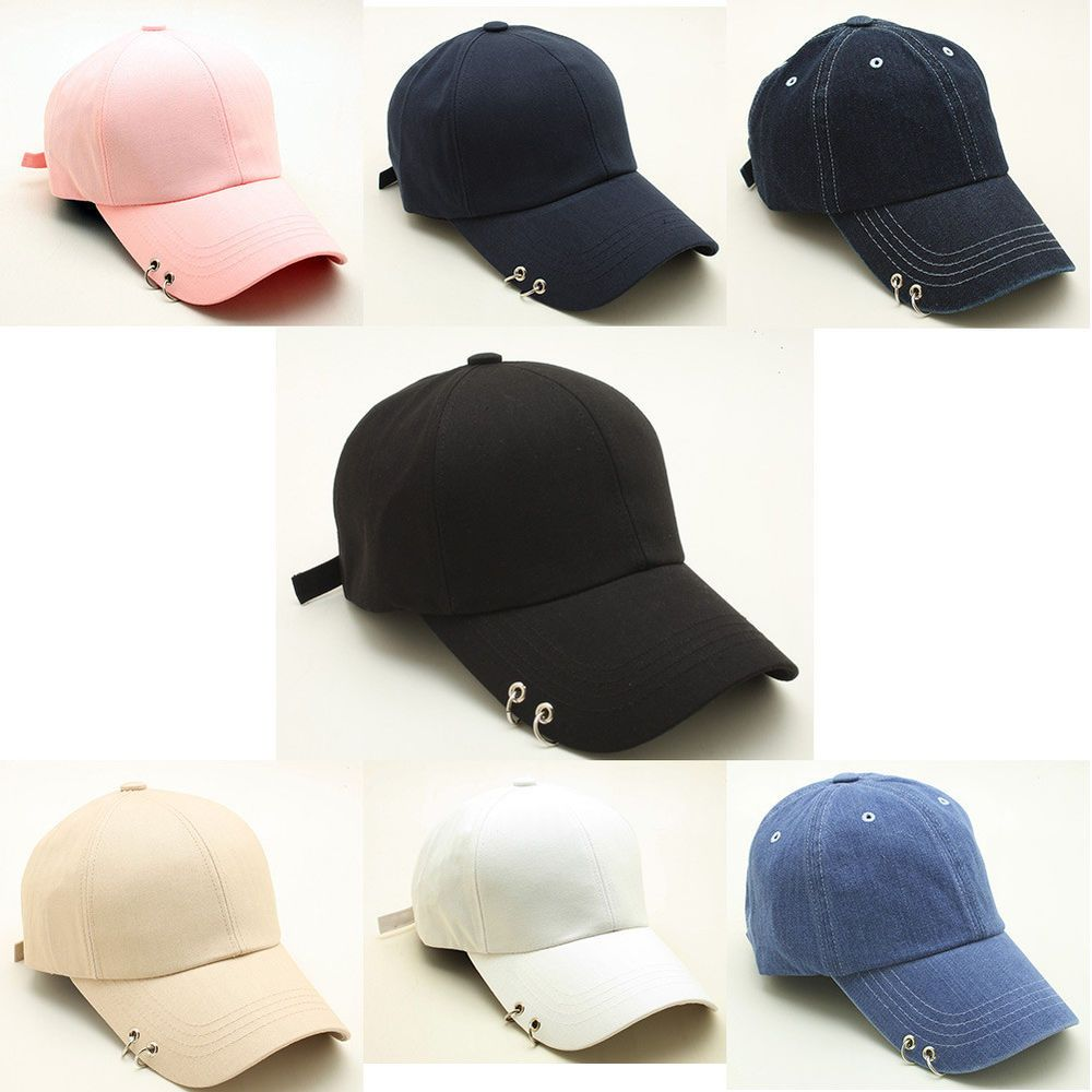 Men Women Ring Stud Baseball Cap Punk Piercing Design Curved Hat Adjustable  TCB1  Unbranded  BaseballCap 7fa430c8c446
