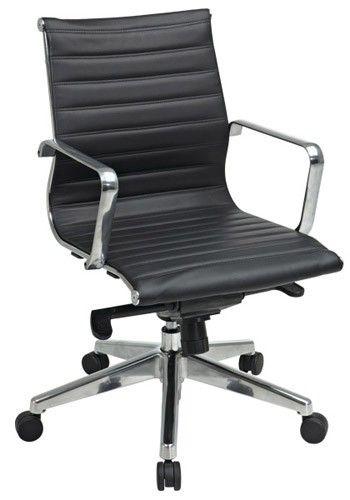 $299   Modin Vintage Mid-Back Chair (Black)