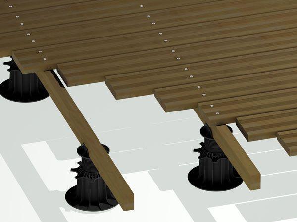 Des Plot En Plastic For The Toiture Terrasse