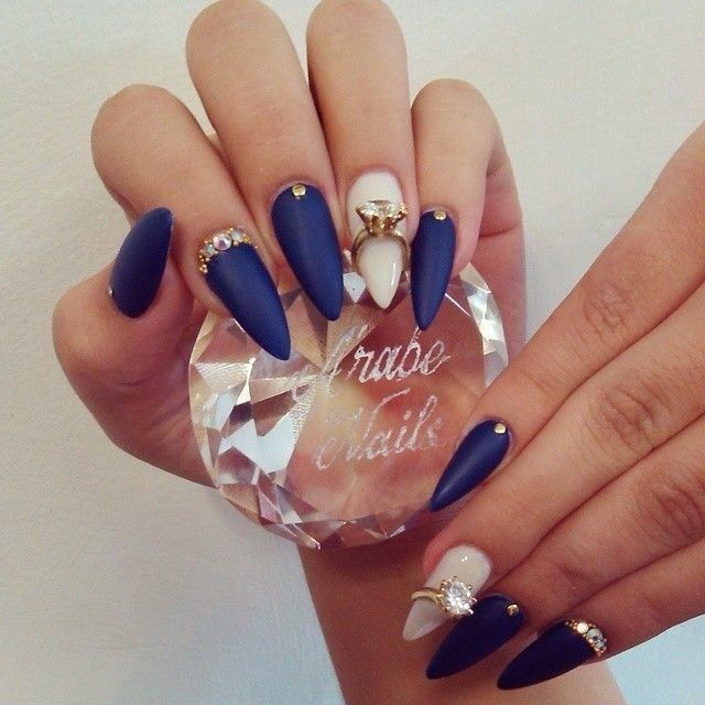 We Love Nails: 10 'Something Blue' Stiletto Nail Designs We Love