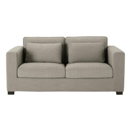 Sofa In Light Grey Monet Fabric Seats 3 Sofa De 3 Plazas
