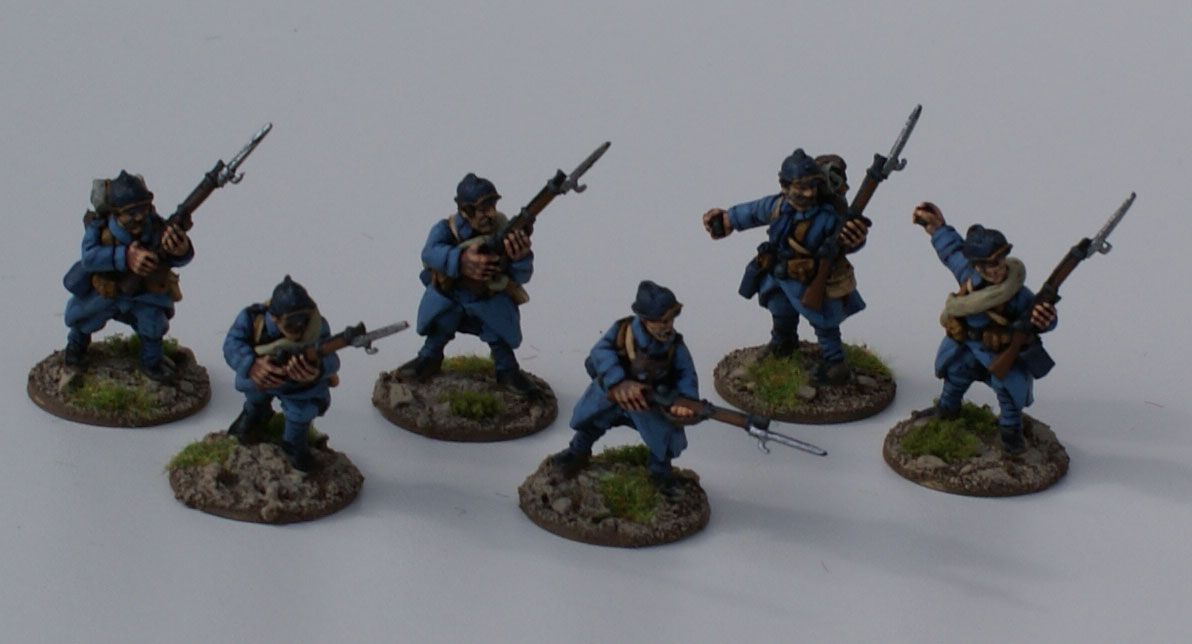 Scarab Miniatures - FR004 Infantry charging and with grenades