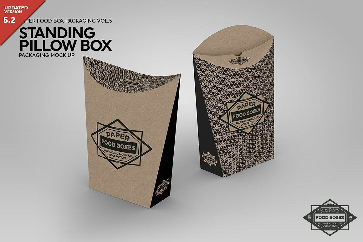 Download Standing Pillow Box Packaging Mockup Pillow Box Packaging Mockup Free Packaging Mockup
