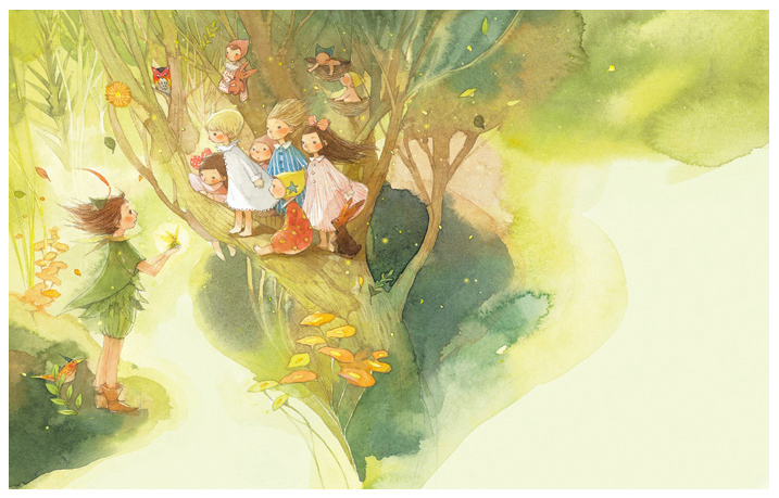 Peter Pan / © Kim Minji - illustrator
