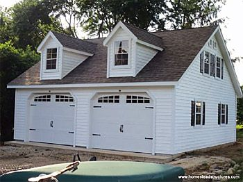 Custom Garages Prefab Garages Homestead Structures 2 Story Garage Garage Design Two Car Garage