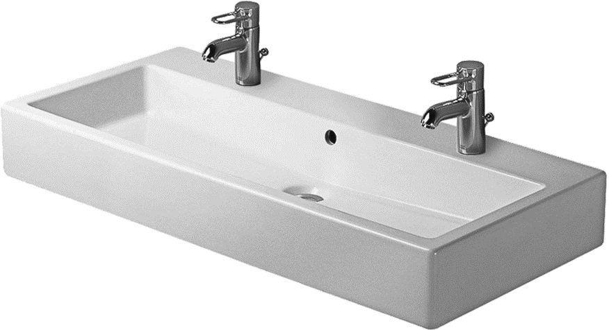 Duravit 04541000241 White 2 Faucet Hole 39 3 8 Wide Lavatory