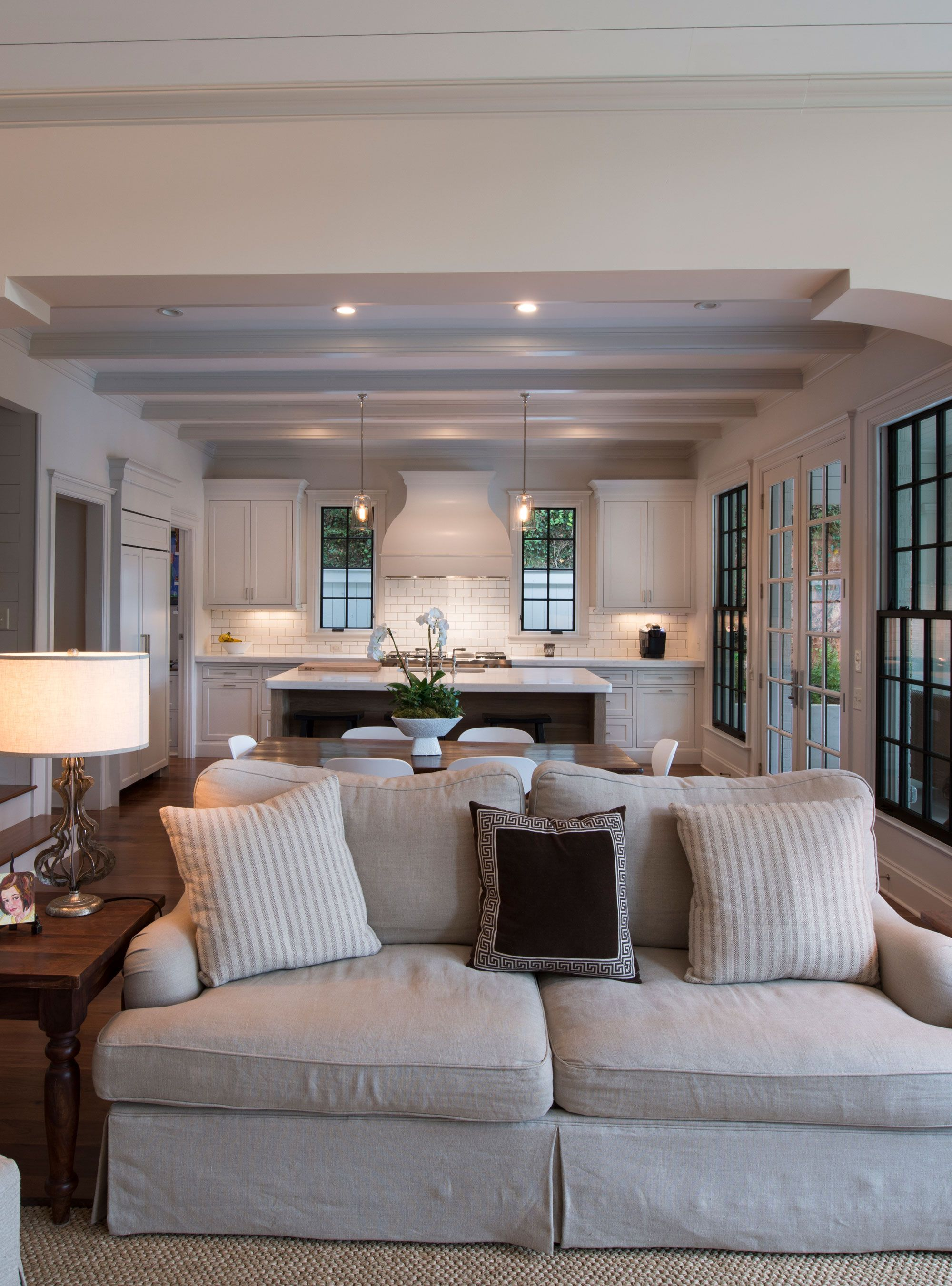 Kitchen Great Room Designs: Open Concept Living Room Overlooking The Kitchen With