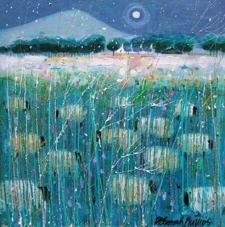Deborah Phillips - Snowy Angus Flock
