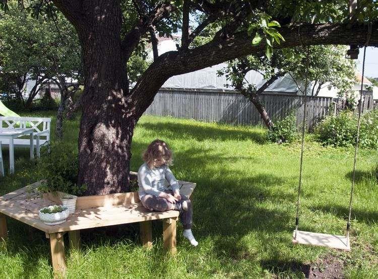 Fabriquer Un Banc De Jardin En Bois   Banc Tour Du0027arbre De Design Créatif