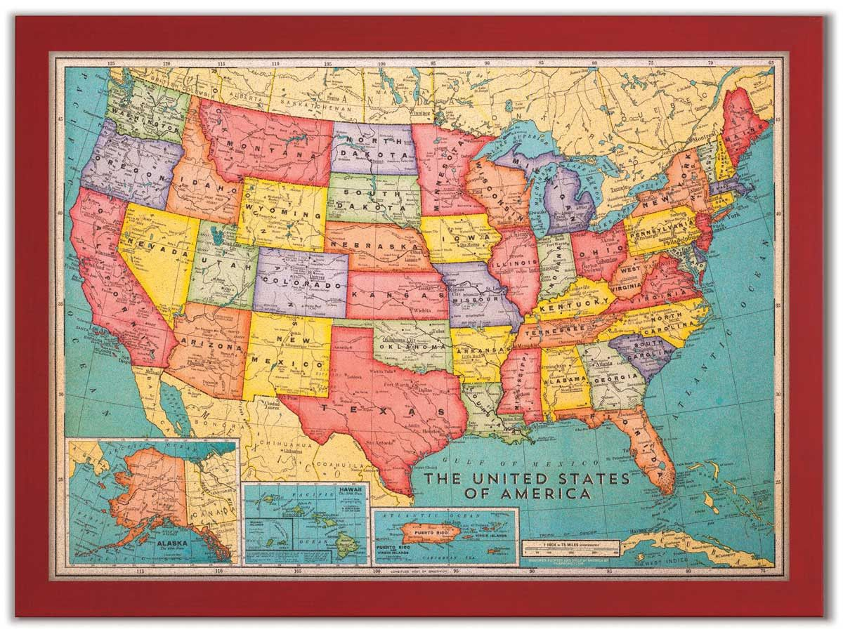 Cork board usa map cork boards cork board usa map gumiabroncs Image collections