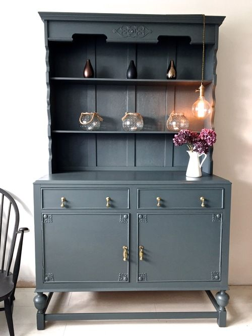 Best Farrow And Ball Downpipe Shabby Chic Dresser Gray 400 x 300