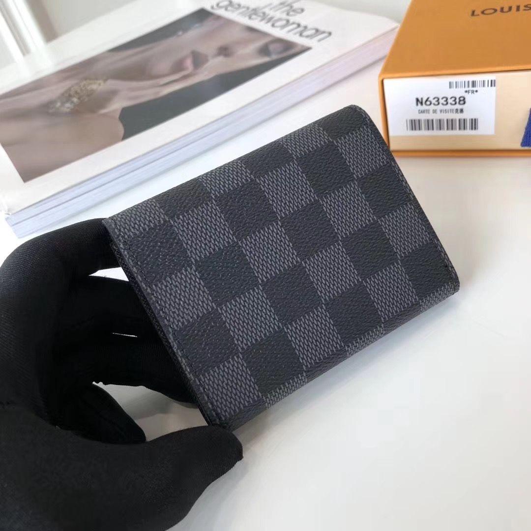 Louis Vuitton Damier Graphite Canvas Enveloppe Carte De Visite N63338 2017