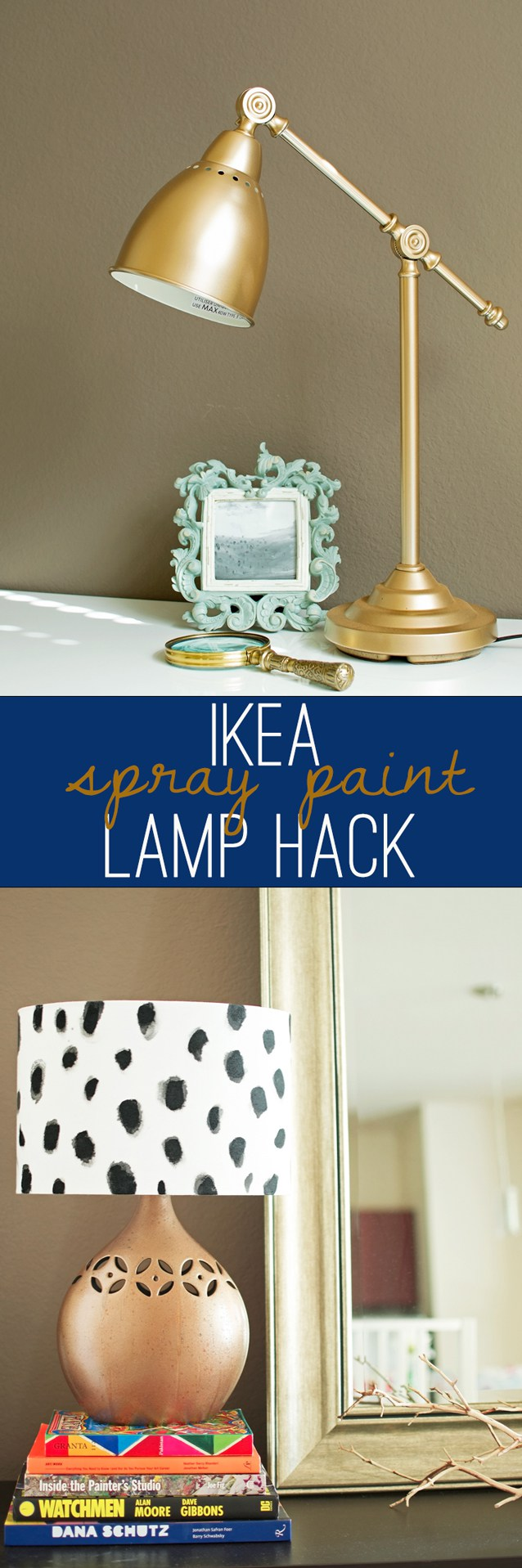 Diy spotted copper lamp u an unhealthy obsession with spray paint