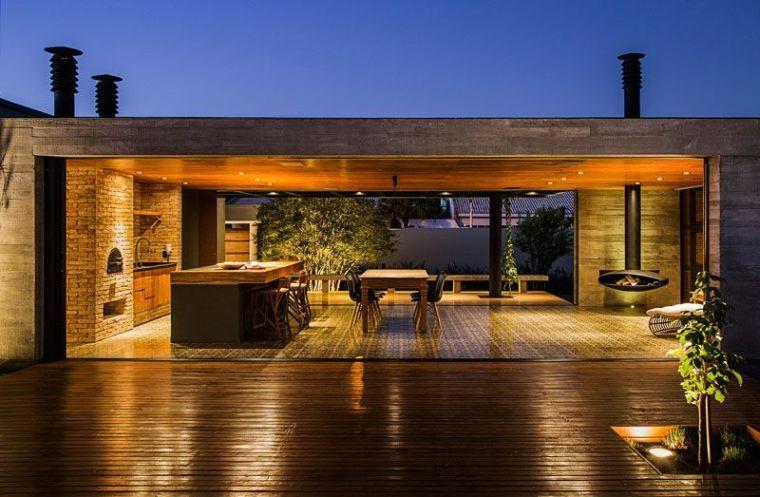 Maison bois, béton, acier et pierre par Mf+arquitetos | Programming