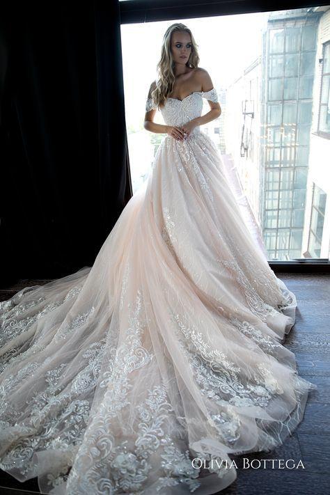 Off shoulder ball wedding dress Sheldon by Olivia Bottega. | Etsy