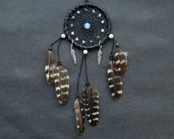 Dreamcatcher rear view mirror charm car accessory mirror dangle dream catcher crystal decor