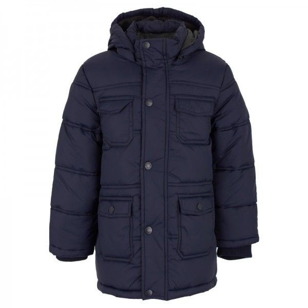 Mayoral Navy Long Puffa Jacket at alexandalexa.com