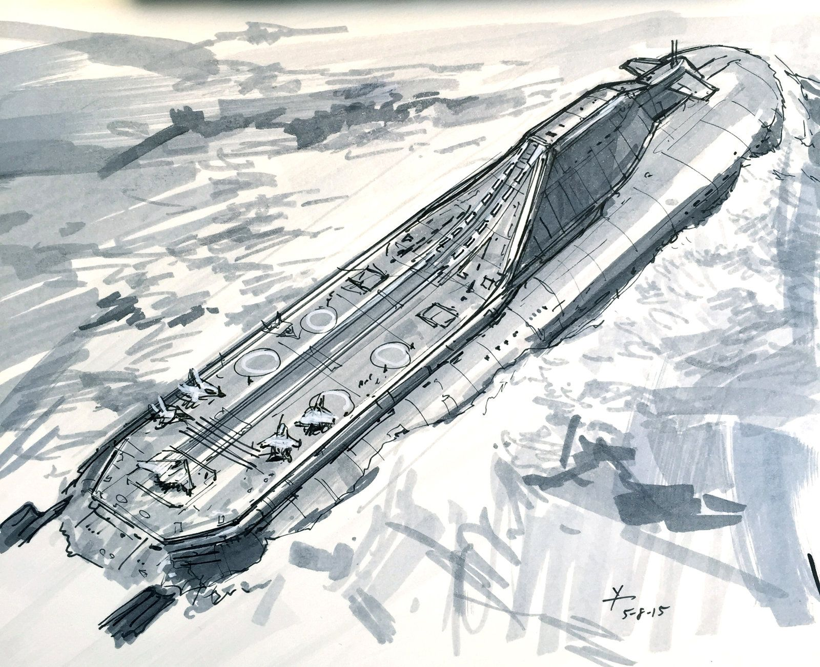 Submarine Aircraft Carrier concept, donald yatomi on ...