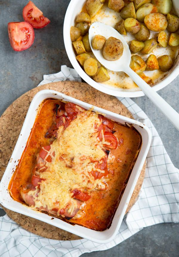 Kiphamrolletjes uit de oven met tomaat - Brenda Kookt! Hoofdgerecht #nachosmetkaasuitdeoven