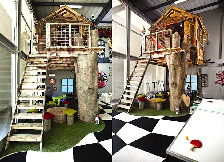 Missing Link Builds An Awesome Indoor Treehouse Inside Their New South African Office